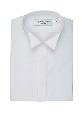 """Formal Kilt Dress Shirt White 21""""Collar With Fly Front Wing Collar"""