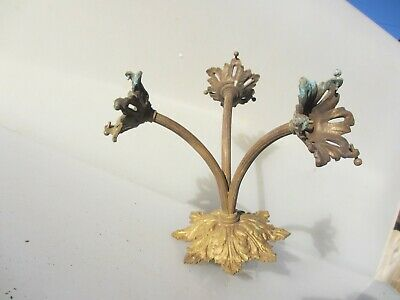 Victorian Brass Ceiling Light Chandelier Old French Rococo Baroque Gilded Sconce