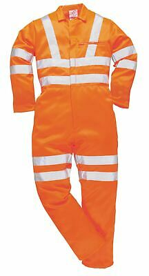 Portwest HiVis P/C Coverall GORT Overall Boilersuit High Visibility Reflective
