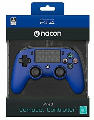 Controller Nacon Wired Ps4 Con Filo Pad Play Station 4 / Pc Blue Joypad Nuovo
