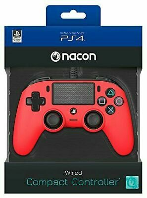 Controller Nacon Wired Ps4 Con Filo Pad Play Station 4 / Pc Rosso Joypad Nuovo