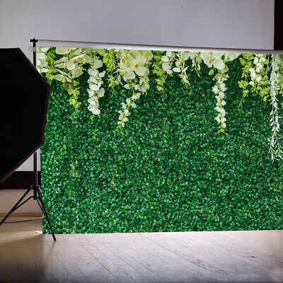7x5ft  Green Leaves Wall Photo Background Vinyl Party Backdrops Stand