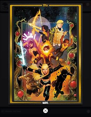 Topps MARVEL COLLECT DIGITAL CARD COMIC BOOK DAY GOLD COVER NEW MUTANTS #1
