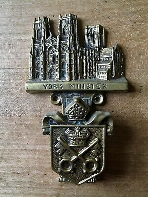 Antique Brass Door Knocker Old Vintage York Minster Cathedral Small