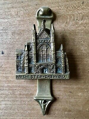 Antique Brass Door Knocker Old Vintage Westminster Cathedral Small