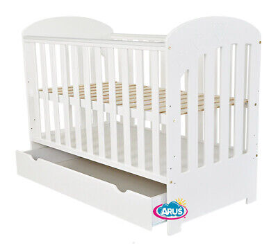 Baby cot with drawer / junior bed / POLA color white / mattress to choose