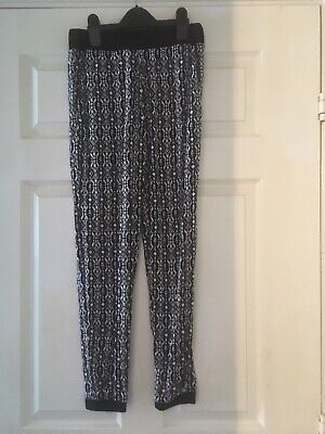 Girls New Look Culotte Trousers Age 10-11 Years/black/excellent condition