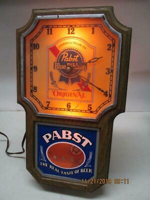 Pabst Blue Ribbon Beer Wall Hanging Original Lighted Electric Clock