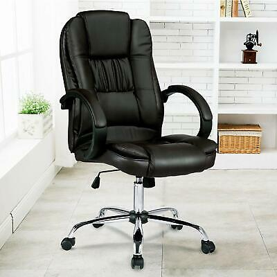 Executive Office Chair PU Leather Recliner Computer Gaming Chairs Seating Black