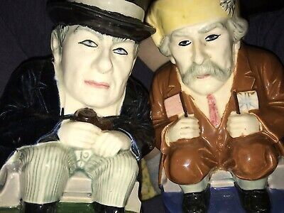 Rare Pair of czechoslovakia 751 And 452 Large toby jugs