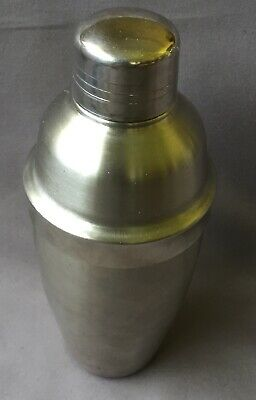 Vintage Stainless Steel COCKTAIL SHAKER bar Party Drink 21cm Mixer Drink