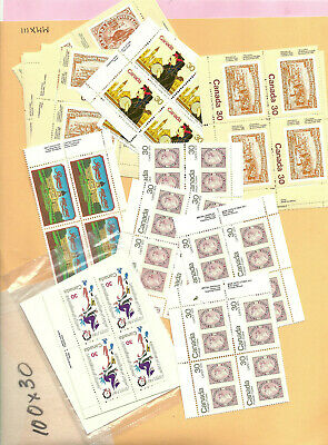 CANADA postage 100x30c Face Value $30.00 Your price $24.00 Mint Never Hinged