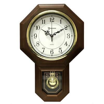 Pendulum Westminster Chime Wall Clock Faux Wood House School Modern Decor 1 Pack