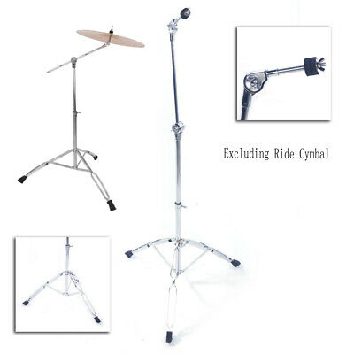 Steel Cymbal Boom Stand Drum Hardware Percussion Holder Mount
