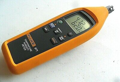 SUPER Clean Used Fluke 971 Temperature Humidity Meter Powers & Works