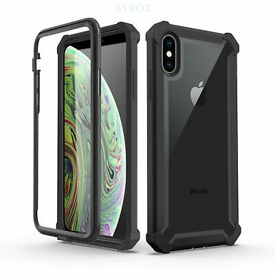 Defender Case Cover For iPhone XS Max,X,XR iPhone 8 7 6 Plus With Tempered Glass