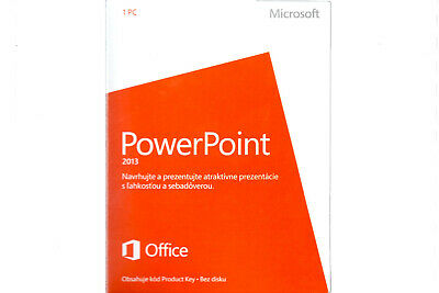 Nouveau Microsoft PowerPoint 2013 079-05916 Medialess zone euro Noncommercial