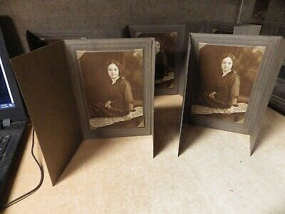 Very Nice Lot Of Antique Larger Size Cabinet Card Photos Interacial Lovely Girl