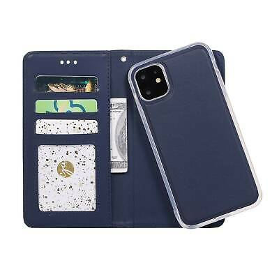 Leather Magnetic Removable Flip Wallet Card Slot Case Cover Fr iPhone 11 Pro Max