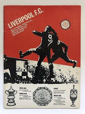 Liverpool FC Players Official Souvenir Of Four Great Seasons, 1966. Football