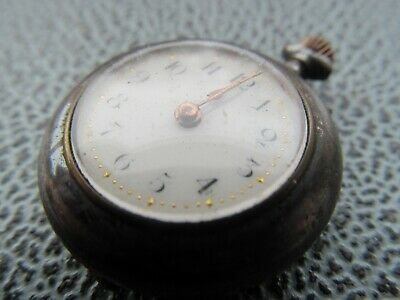 Antique very  small  gun metal pocket watch