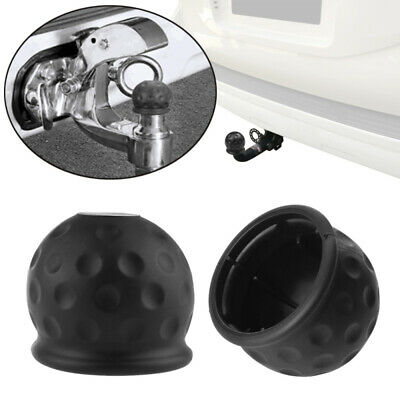 50mm Trailer Black Rubber Towball Protect Car Hitch Cover Tow Bar Ball Case