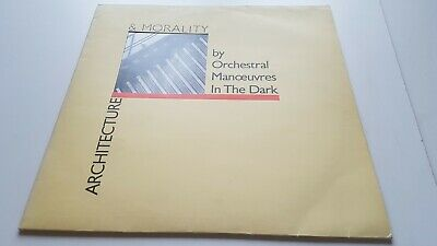ORCHESTRAL MANOEUVRES IN THE DARK architecture & morality LP 1981 SYNTH VINYL EX