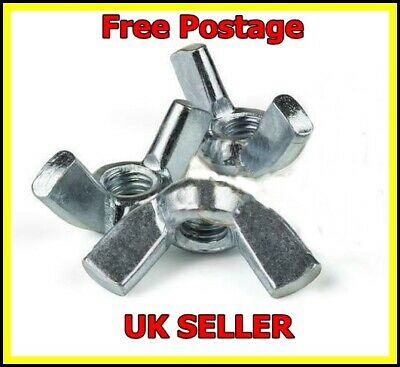 3x M8 Wingnuts Zinc Wing Butterfly Nuts To Fit M8  Bolts Screws BZP