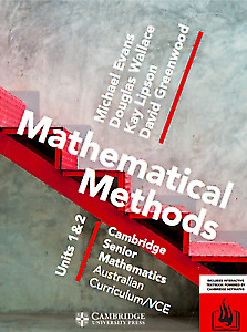 **PDF WORKED SOLUTIONS + TEXTBOOK** CSM VCE Methods Units 1 & 2 [PDF]