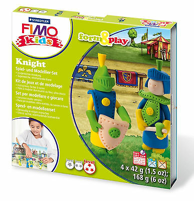 FIMO Clay Kids Form & Play 7 Parts KNIGHT Multi Colour 15.5 x 15.6 x 2.2 cm