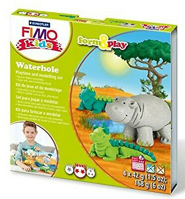 FIMO Clay Kids Form & Play 7 Parts WATER HOLE Multi Colour 15.5 x 15.6 x 2.2CM