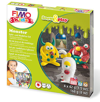 FIMO Clay Kids Form & Play 7 Parts MONSTER Multi Colour 15.5 x 15.6 x 2.2 cm