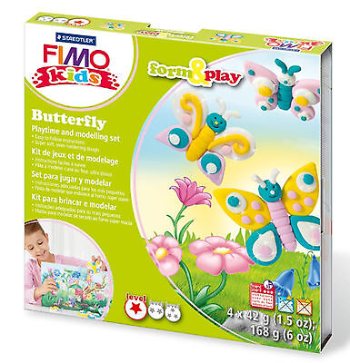 FIMO Clay Kids Form & Play 7 Parts BUTTERFLY Multi Colour 15.5 x 15.6 x 2.2 cm