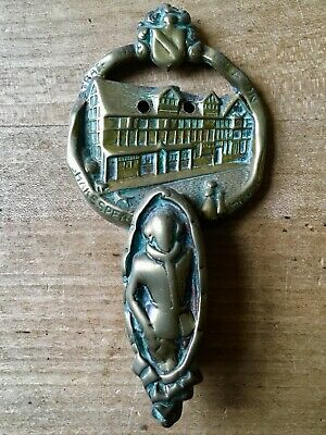 Vintage Brass Door Knocker Shakespeare House Small Cast Brass