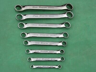 Snap On Xsm608 Ametric 10° Offset Short Wrwnch Set  6Mm -  20Mm Xsm67A  Xsm1820A
