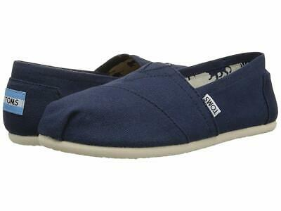 TOMS Womens Canvas Classics Slip On Shoes Navy