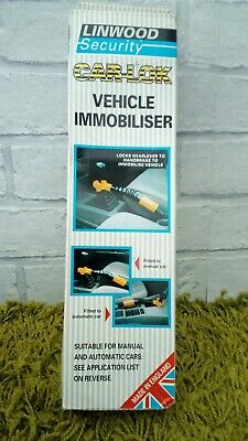 Classic Car Immobiliser Lock By Linwood Security Boxed 2 Keys