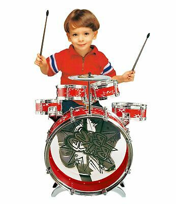 SOKA® Kids Junior Red Drum Kit Playset Musical Instrument Percussion Toy