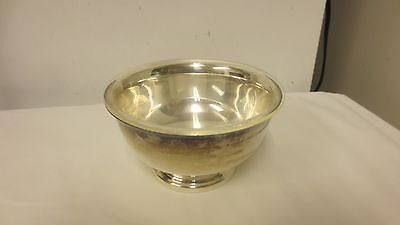 """Older Gorham Silverplate Footed 5"""" Bowl with Removeable Plastic Liner"""