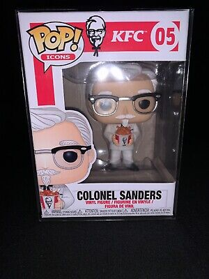 Funko Pop! Colonel Sanders KFC Ad Icons #5. W/ POP PROTECTOR