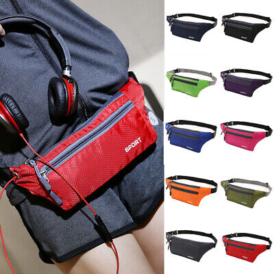 Sports Running Bum Bag Fanny Pack Travel Waist Bags Phone Zip Belt Pouch Wallet