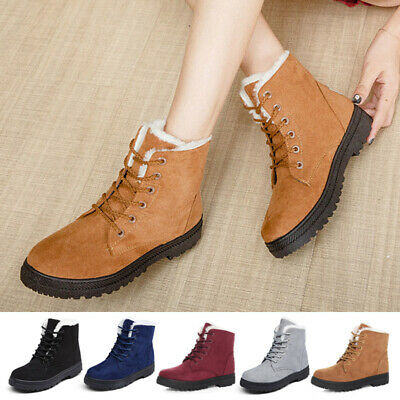 Womens Boots Waterproof Warm Winter Non-Slip Snow Outdoor Shoes Casual