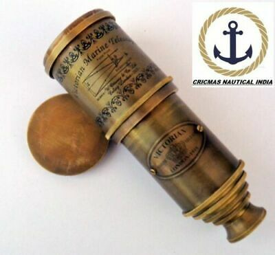 Antique Full Brass Telescope Nautical handmade design maritime design replica