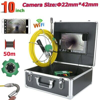 50M Wireless Pipe Sewer Inspection Video Camera System APP view video recording