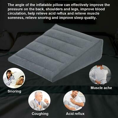 Pillows Inflatable Bed Wedge Pillow, Foot Rest Pillow for Travel Plane Train Car