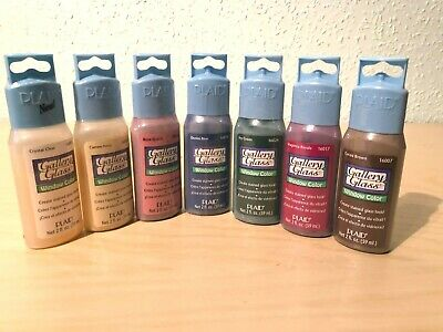 PLAID Gallery Glass Window Color - Stained Glass Paint Starter Set - 7 Colours