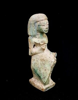 Fabulous Wet Nurse statuette ancient genuine Egypt antique bead 450 BC Faience