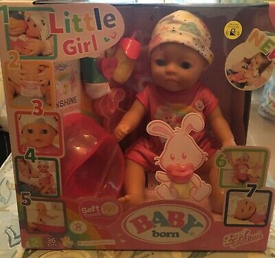 Baby Born Doll Little Girl Soft Touch 36 cm Zapf Creations Age 2+ Years