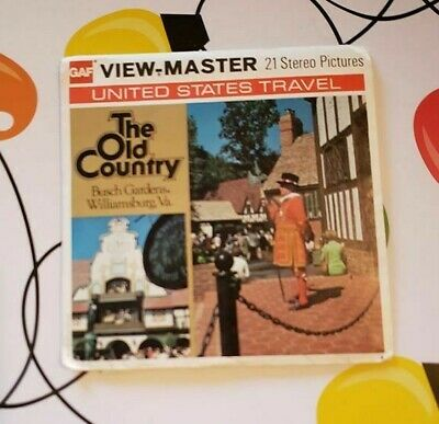 A822 The Old Country Busch Gardens Williamsburg Virginia viewmaster Reels Packet