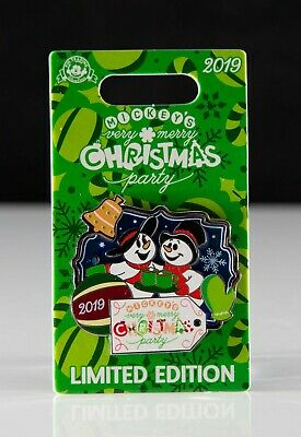 New 2019 Disney Parks Mickey's Very Merry Christmas Party Pin LE - Snowmen